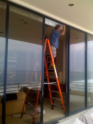 Repairing 12ft Tall Sliding Patio Doors In A Malibu Beach House On PCH